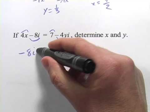 Solve Equations with Complex Numbers