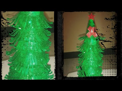 How to make Christmas tree using paper cups