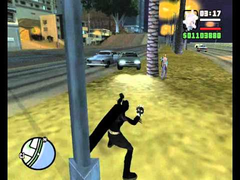 GTA San Andreas batman mod gameplay