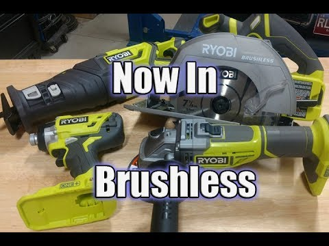 New Ryobi Brushless Impact Driver, Circular Saw, Angle Grinder & Recip Saw