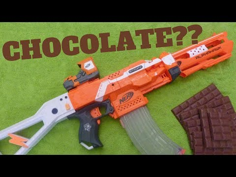 DIY Chocolate Nerf Gun: Chocolate Nerf AK 47 Tutorial - Odly Satisfying Chocolate Mould Nerf Hack!
