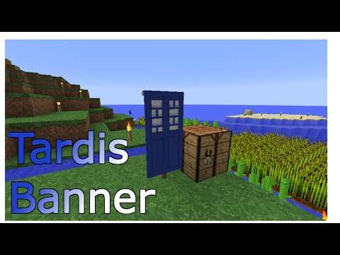 How to make the TARDIS Banner in Minecraft