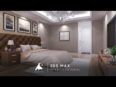 3Ds Max Interior Tutorial Bedroom Vray+Photoshop 2016