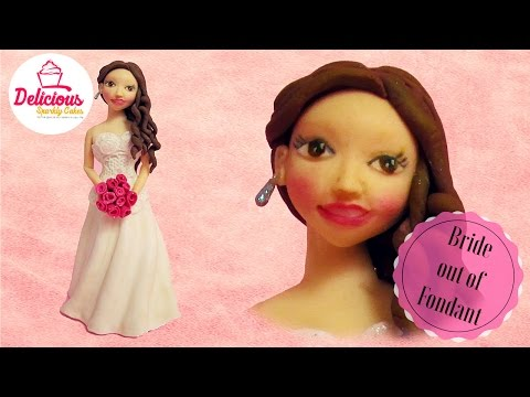 Bride out of fondant cake topper l Delicious Sparkly Cakes