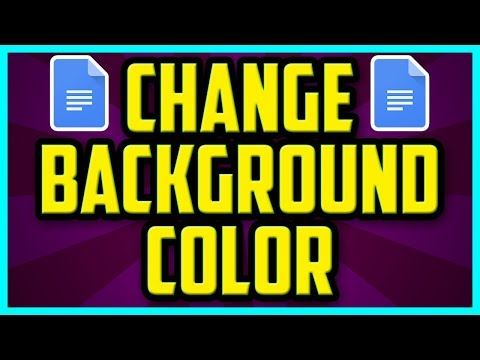 HOW TO CHANGE THE BACKGROUND COLOR IN GOOGLE DOCS (FAST) - Google Docs Background Color Change 2018