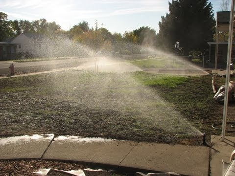 How to Install a Sprinkler System (Time Lapse)