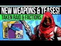 Destiny 2 News   AWOKEN WEAPONS & RAID TEASES! New Exotic Synergy, Faction Units & Double Perks