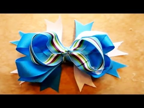 How To Make A Stacked Boutique Hair Bow