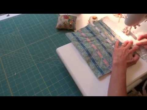 How make a simple quilted potholder