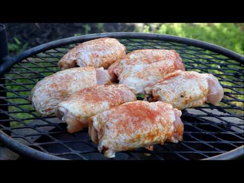 Chicken Thighs on the Double Flame Fire Pit