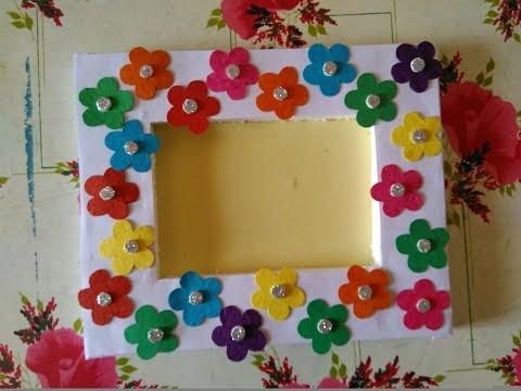 How to make beautiful photo frame    Simple photo frame    make easy photo frame