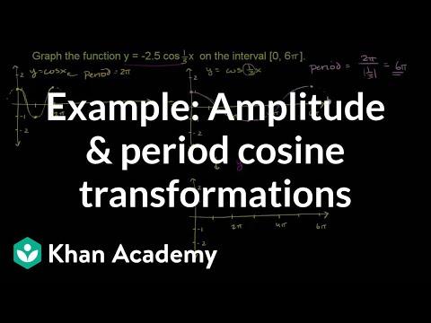Example: Amplitude and period cosine transformations   Trigonometry   Khan Academy