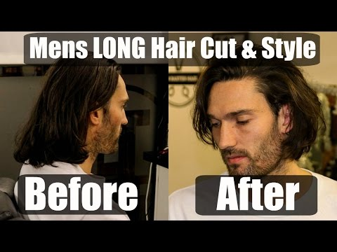 Mens LONG Hair Cut & Style INSPIRATION for 2017