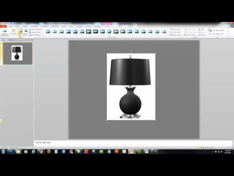 PowerPoint 2010 - Make an Image Background Transparent