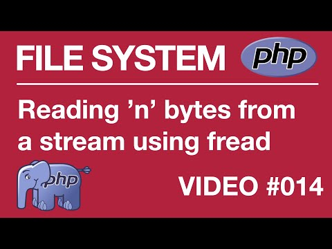Lesson 15 PHP - File Systems - fopen and fread functions, Reading n bytes at a time