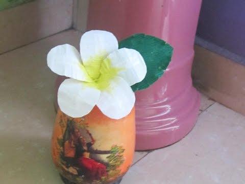 champa / plumeria flower tutorial- kids craft