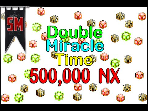 MapleStory: Miracle Time Cubing with 500,000 NX!!!