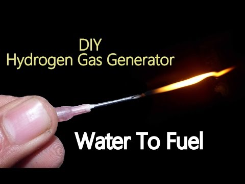 How To Make Hydrogen Gas Generator (HHO Gas) | Water To Fuel