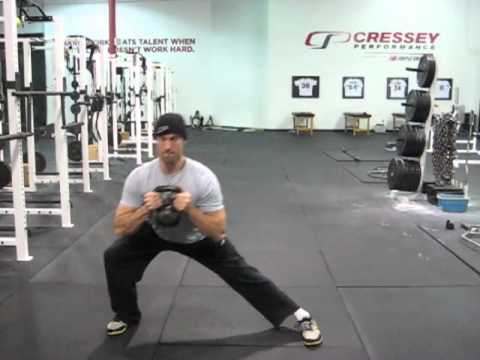 TonyGentilcore.com KB Goblet Lateral Lunge w:Pulse