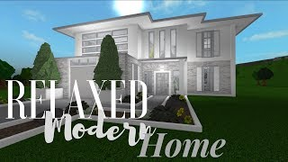 Bloxburg Modern Family Home Speed Build - bloxburg modern house tutorial step by step