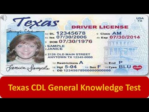 Texas CDL General Knowledge Test