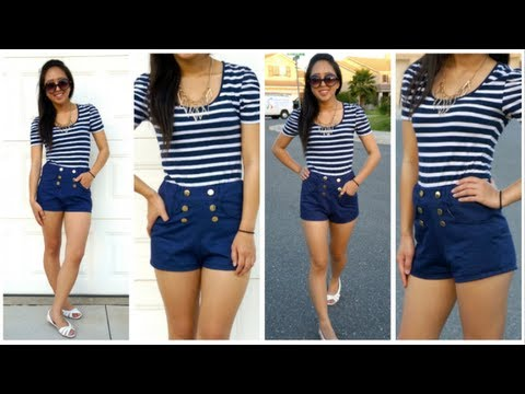 High-waisted Shorts with Pockets Tutorial