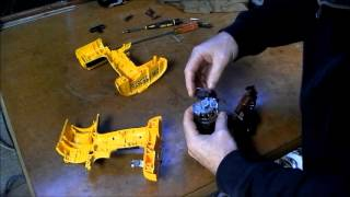 Dewalt cordless drill repair part 2  SMOKING MOTOR !