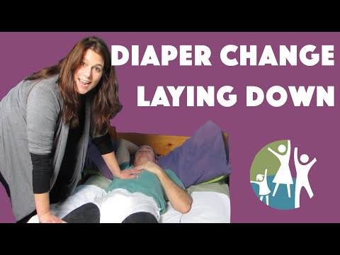 Autism Tips - Applying Autistic Adult Diapers in a Lying Position