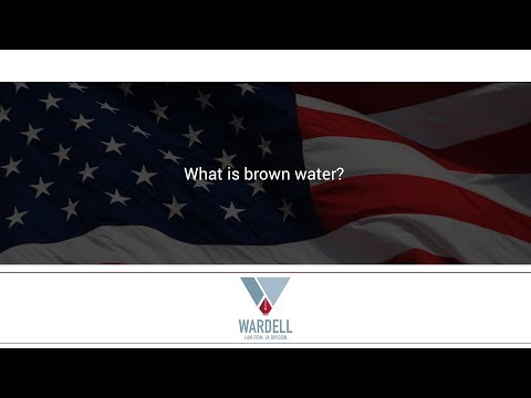 What is brown water?