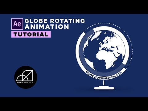 Globe Rotating Infographics Animation - After Effects Tutorial