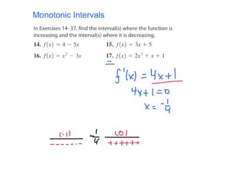 Monotonic Intervals (p.  265 #17)