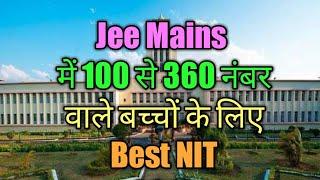 NIT College based on jee mains  marks | NIT /IIIT/BITS/SNIT/DTU/