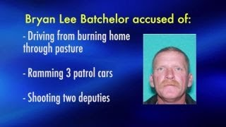 Texas deputies shot by man who let his home burn