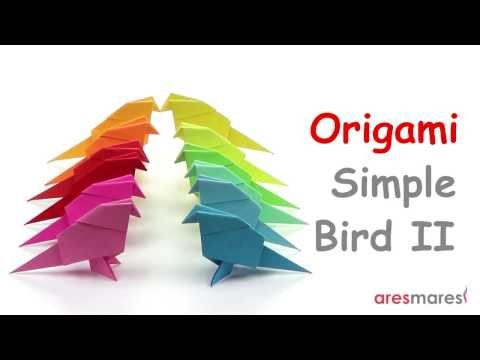 Origami Very Simple Bird II (easy - single sheet)
