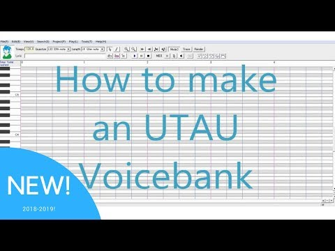 NEW Creating an UTAU Voicebank 2017 TUTORIAL