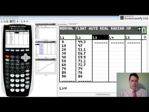 Residuals and residual plots on a graphing calculator