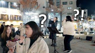 [몰카] 일반인 버스킹에 난입한 실제 가수 HYNN 박혜원의 미친 고음 ㄷㄷ (차이써)