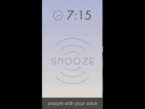 Snoozy -  Alarm Clock with Voice Snooze