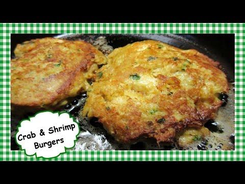 The Best Crab & Shrimp Burgers ~ Crab & Shrimp Cakes Recipe