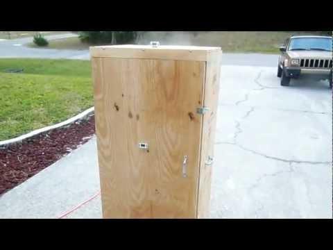 Homemade Wooden Beef Jerkey Smoker Box Part 4 - DIY How to build a food smoker