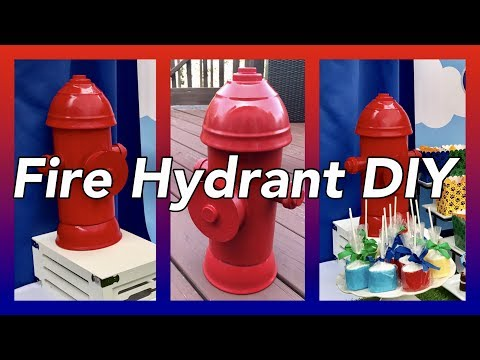 DIY Fire Hydrant Table Centerpieces Prop  | Paw Patrol Party Decor