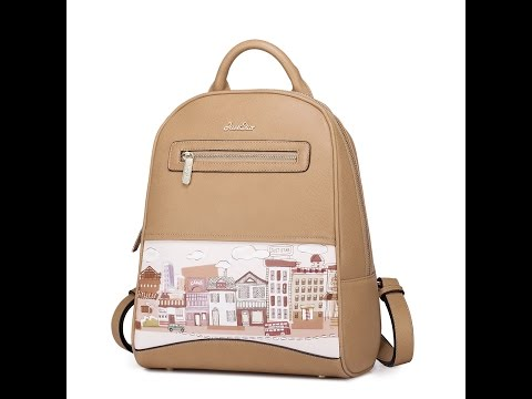 Just Star – Faux Leather Tan Backpack | bagz.co.uk