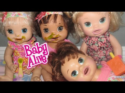 BABY ALIVE Feeding, Diaper Change & Nap Time With Ruby Snow, Margie McCabe, Sara & Mary!