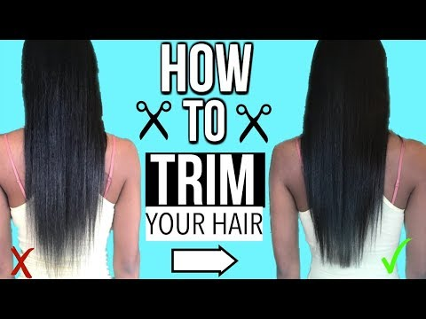 HOW TO TRIM YOUR HAIR | GET RID OF DEAD ENDS
