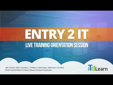 Entry to IT  Live Training Orientation Session  -  iTeLearn