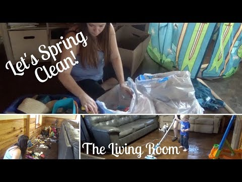 SPRING CLEANING 2018   Decluttering and Cleaning the Entire Living Room