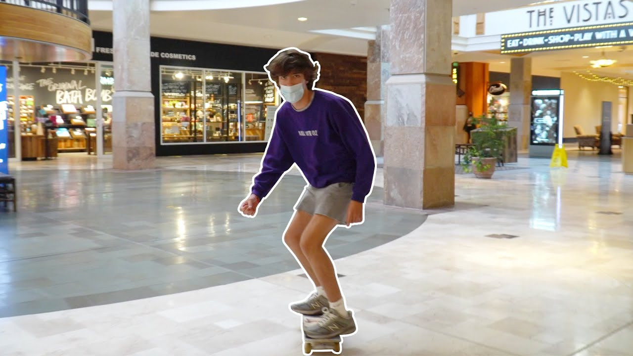 Skateboarding in the Mall!