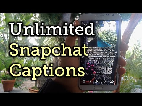 EASY! How To Type Unlimited Words In Snapchat // SnapChat Hack 2015!