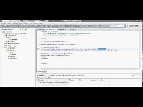 struts 2 first web application with eclipse