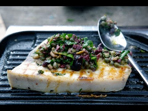 How to make Grilled Swordfish with Olive & Caper Crush - Sydney Harbour Kitchen Ep 5